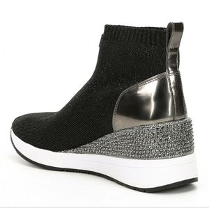 Michael Kors Metalic Skyler Wedge Bootie Sneakers